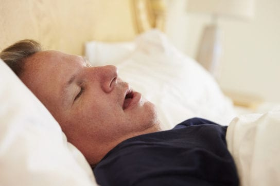 snoring due to sleep apnea